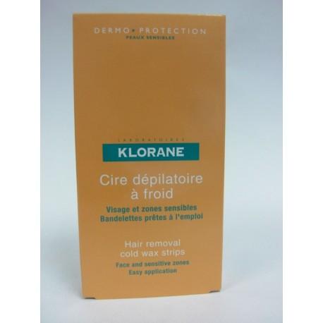 Klorane - Cire dépilatoire à froid - Visage et zones sensibles