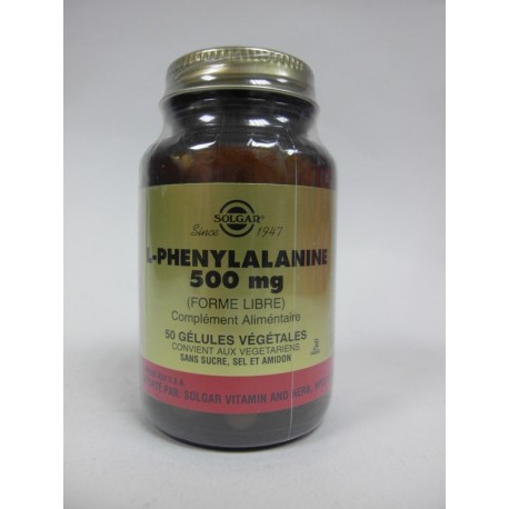 SOLGAR L-Phenylalanine (Forme libre)
