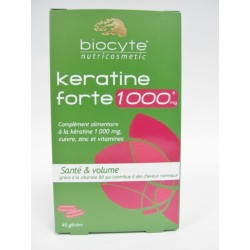 Biocyte - Keratine forte 1000 mg Santé & Volume (40 gélules)