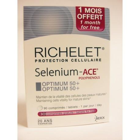Richelet - Selenium - Ace Plyphénols Optimum 50+ (120 comprimés)