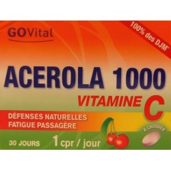 GOVital - ACEROLA 1000 Vitamine C . Défenses naturelles - Fatigue passagère