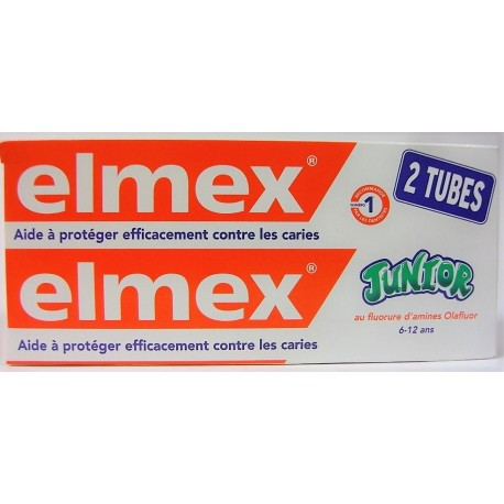 elmex - Dentifrice Junior 6 à 12 ans (lot de 2)