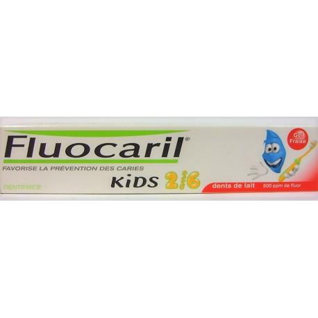 Fluocaril - Prévention des caries Kids 0-6 ans Gel fraise (50 ml)