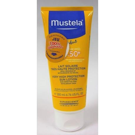 Mustela - Lait solaire très haute protection 50+ (tube 200ml)