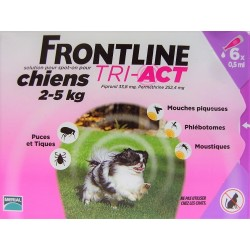 FRONTLINE - TRI-ACT Solution Spot-On Chiens 2-5 kg (6 pipettes)