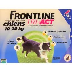FRONTLINE - TRI-ACT Solution Spot-On Chiens 10-20 kg (6 pipettes)