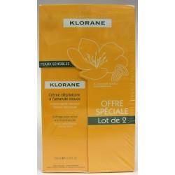 Klorane - Crème dépilatoire à l'amande douce (lot de 2)