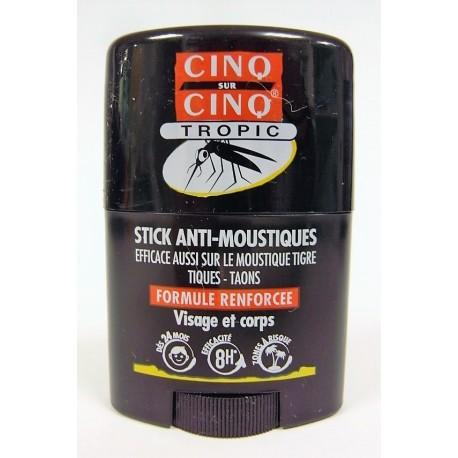 """Cinq sur Cinq - Stick Anti-Moustiques """"Tropic"""" Visage et corps"""