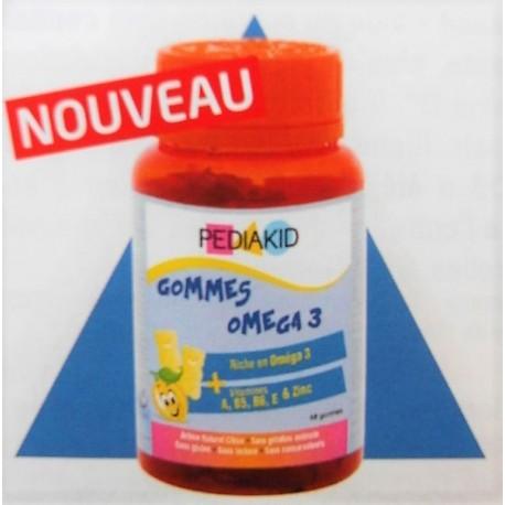 INELDEA - PEDIAKID Gommes Oméga 3