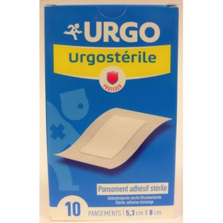 Urgo - Urgostérile . Pansement adhésif stérile 5,3 x8 cm (10 pansements)