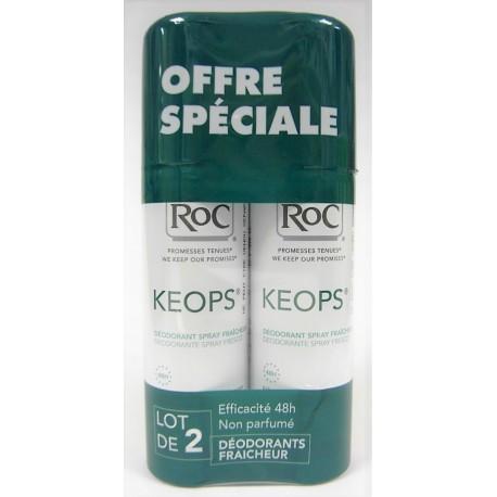 Roc - Keops - Déodorant fraîcheur (lot de 2 sprays)