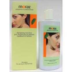 Moraz - Shampooing Correcteur pour cheveux gras ou normaux Equilibrant et Purifiant