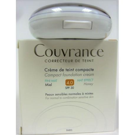 Avène - Couvrance Crème de teint compacte Fini mat Miel (4.0) SPF 30