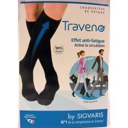 SIGVARIS - Traveno Chaussettes de voyage (S) (35-38) Noir