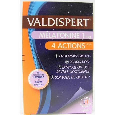 Valdispert - Mélatonine 1 mg 4 actions