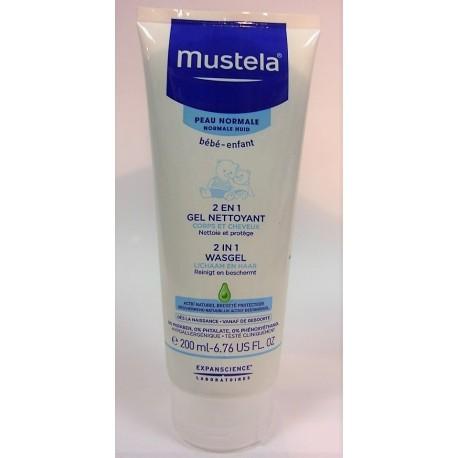 Mustela - 2 en 1 Cheveux et corps Gel nettoyant (200 ml)