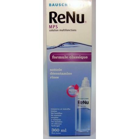 ReNu Solution Multifonctions Pour toutes les lentilles souples et les silicones hydrogels (360 ml)