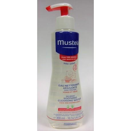 Mustela - Eau nettoyante sans rinçage (visage et siège) Peau normale (300 ml)