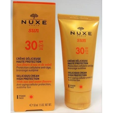 Nuxe Sun - Crème délicieuse visage SPF 30