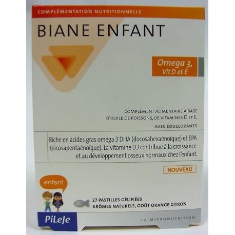 Pileje - Biane Enfant Omega 3, Vit D et E