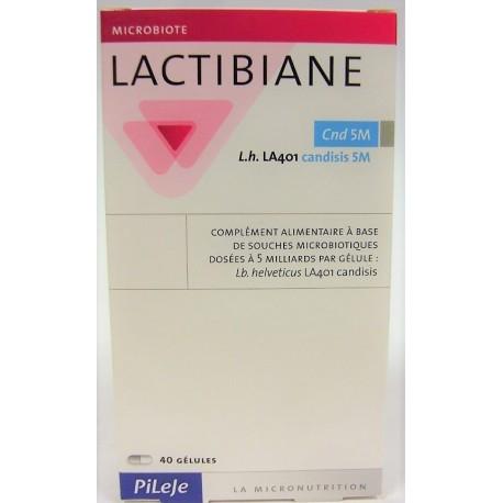 Pileje - Lactibiane Probiotiques . Candisis 5M (40 gélules)