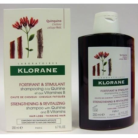Klorane - Shampooing à la Quinine et aux vitamines B Fortifiant & Stimulant (200 ml)
