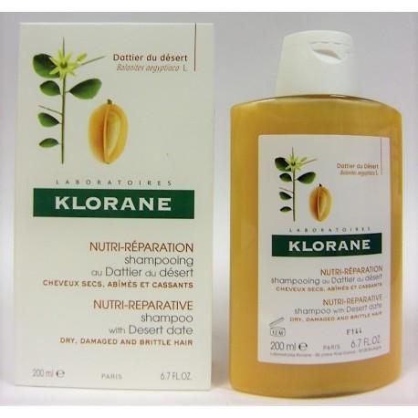 Klorane - Shampooing au dattier du désert Cheveux secs, abîmés, cassants (200 ml)