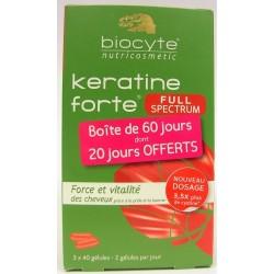 Biocyte - Keratine forte Full Spectrum Force et Vitalité des cheveux (3x40 gélules)