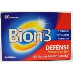 Bion - Bion 3 Défense Maintien des défenses naturelles vitamines D & Zinc (60 comprimés)