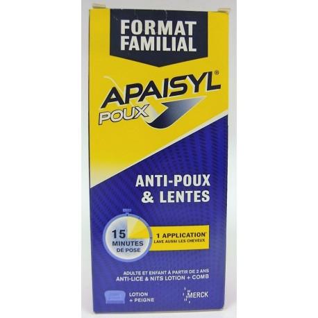 Apaisyl Poux - Anti-poux et lentes Format familial
