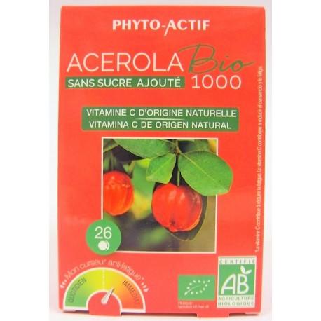 Acerola Bio 1000 - Sans sucre ajouté