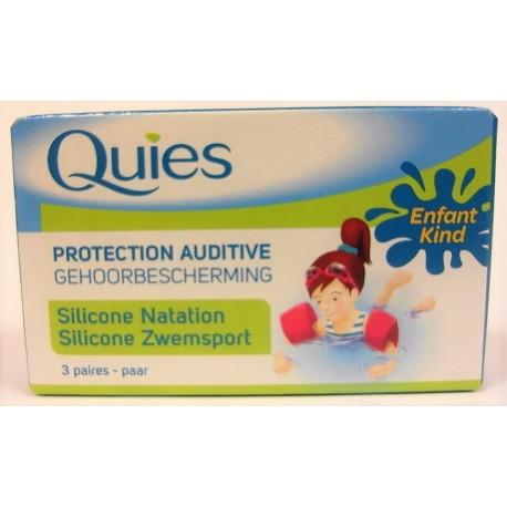 Quiès - Protection auditive Natation Enfants (3 paires)