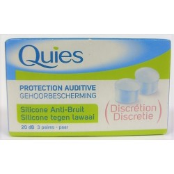 Quiès - Protection auditive Silicone Anti-Bruit (3 paires)