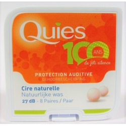 QUIES - Protection auditive Cire naturelle (8 paires)