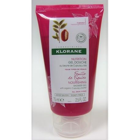 Klorane - Gel Douche Feuille de Figuier au Beurre de Cupuaçu bio (75 ml)