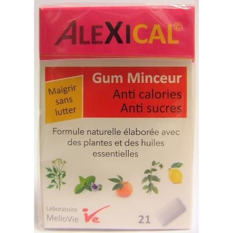 Melio Vie - ALEXICAL Gum Minceur Anti calories . Anti sucre (21 gommes)s