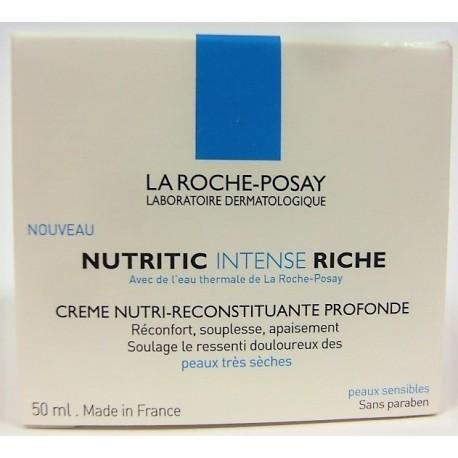 La Roche- Posay - NUTRITIC Intense riche . Crème nutri-reconstituante profonde (50 ml)