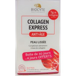 Biocyte - Collagen express Anti-âge Peau lissée (30 sticks)