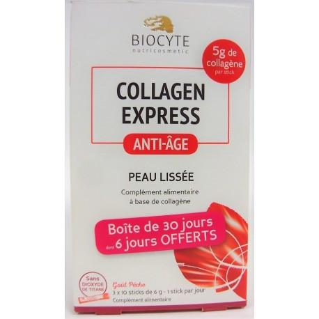 Biocyte - Collagen express Anti-âge Peau lissée (90 sticks)