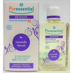 Puressentiel - Huile de massage Bio Détente Lavande Néroli