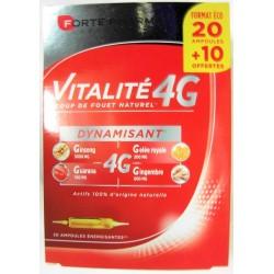 Forté Pharma - Vitalité 4G Dynamisant (20 ampoules + 10 offertes)
