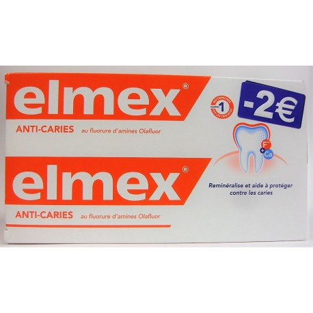 elmex - Dentifrice Anti-caries (lot de 2)