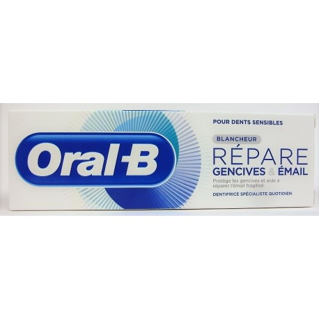 Oral-B - Dentifrice Répare Gencives & Email . Blancheur (75 ml)