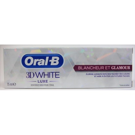 Oral-B - Dentifrice 3D WHITE LUXE Blancheur et Glamour (75 ml)