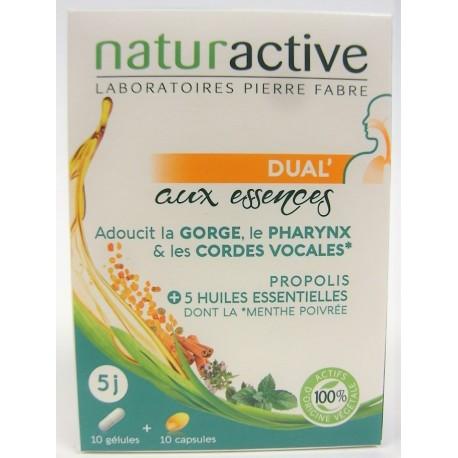 Naturactive - Dual' aux essences . Gorge PROPOLIS + 5 Huiles essentielles