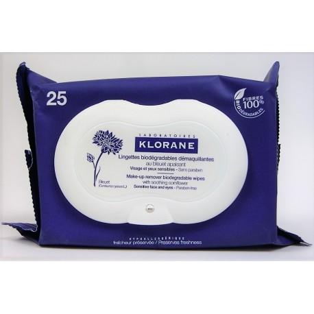 Klorane - Lingettes biodégradables démaquillantes au bleuet apaisant (25)