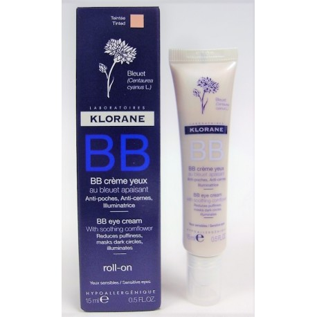 Klorane - BB Crème yeux au bleuet apaisant (roll-on 15 ml)