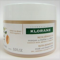 Klorane - Masque au dattier du désert Cheveux secs, abîmés et cassants (150 ml)