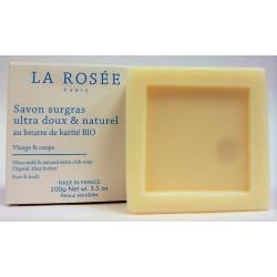 La Rosée - Savon surgras ultra doux & naturel au beurre de karité BIO Visage & Corps (100 g)
