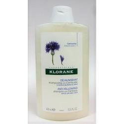 Klorane - Shampooing à la Centaurée déjaunissant Cheveux blancs ou gris (400 ml)